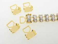 Crimp End Fits Austrian 3mm Double Row Chain 20pc Gold