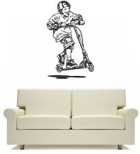 Fun Scooter Extreme Wall Art Sticker Free Postage skate park fun
