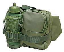 VERDE OLIVA TACTICAL Waist Pack con Acqua Bottiglia-Escursionismo Utility Bag