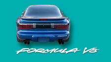 93-94 Firebird Formula Headlight & Rear Bumper Decals Silver