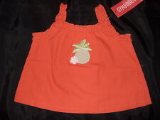 NWT ~ Gymboree BEACH SHACK orange pineapple top ~ girls 6 12 mos.