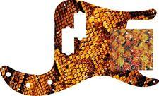 Pickguard Scratchplate Pick Guard Fender P Bass Guitar Textured Yellow Snakeskin