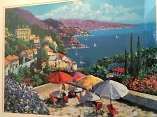 """Framed Kerry Hallam Hills of Posillipo 29"""" x 21.5"""" Lithograph"""