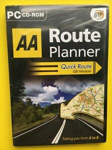 AA Route Planner Quick Route GB Version PC CD-ROM - FREE daily post