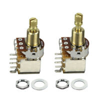 2PCS Copper Guitar Potentiometer A500K Audio Taper Tone Control Long Split Shaft