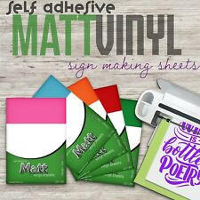 More details for 10 x a4 matt vinyl self adhesive sticker, decal & sign making craft sheets