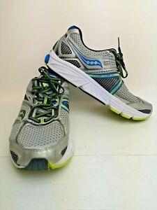 Men's 9.5 Saucony  Power/Grid Echelon 4  Running Shoes - Grey/Silver/Yellow/Blue