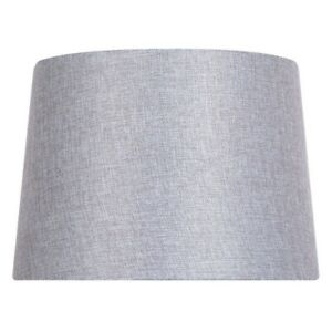 14 inch DIA Grey Linen Blend Table Lamp Shade