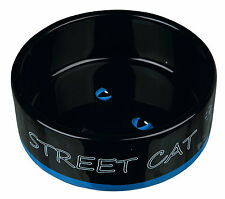 24659 - 1 x Trixie STREET CAT Ceramic Food / Water Cat Bowl - Dish
