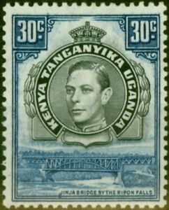 K.U.T 1938 30c Black & Dull Violet-Blue SG141 P.13.25 Good Mtd Mint