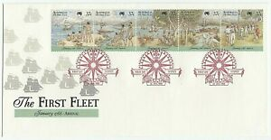 1988 AUSTRALIA FIRST DAY COVER ISSUE FDC - 'THE FIRST FLEET - ARRIVAL'