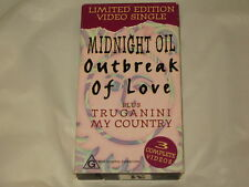MIDNIGHT OIL - OUTBREAK OF LOVE - RARE VHS VIDEO SINGLE