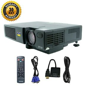 ViewSonic PJ550 3LCD Projector Portable HD 1080p HDMI-adapter w/bundle