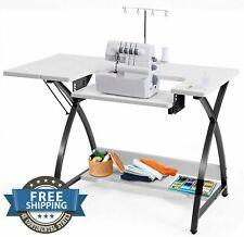 Sewing Machine Table Top Vintage Adjustable Platform Antique Folding Side Shelf