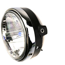 """8"""" H4 Hernia Halogen Bulb Round Motorcycle Front Headlight 55w 12V ABS+Metal RS1"""
