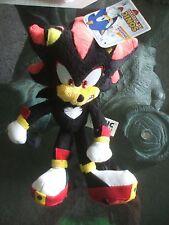 Shadow Sonic the Hedgehog Plush 20th Anniversary Hedgehog Toy Figure Jazwares