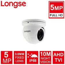 Longse 5MP 4MP Mini Indoor Outdoor CCTV Security Dome Camera IP66 4 in 1 AHD TVI