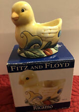 Fitz And Floyd Ricamo Egg Cup New In Box