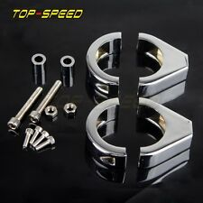 CNC Motorcycle Turn Signal Mount Bracket 41mm Fork Relocation Clamps For Harley