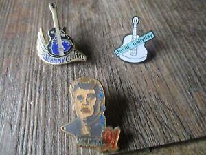 Lot pin s collector -Série Johnny Hallyday&David Hallyday