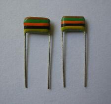 2x 15nF 0,015uF 400V  Mullard Tropical Fish capacitors NOS Vintage