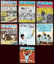 FIFA WORLD CUP 1978 - GOLES Magazine COMPLETE COLLECTION - 7 Magazines !!