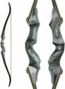 Black Hunter Takedown Recurve Bow 60inch with Bamboo Core Limbs Archery Hunting