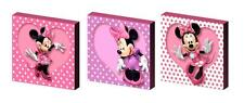 MINNIE MOUSE spotty CANVAS WALL ART PLAQUES/PICTURES