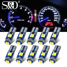 10Pc 37 58 70 73 74 2721 T5 Dash Cluster Gauge LED Wedge Bulbs Ultra White Light
