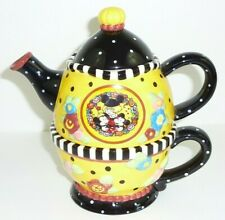 "New ListingMary Engelbreit Tea For Three Disney Teapot 1999 7"" Tall"