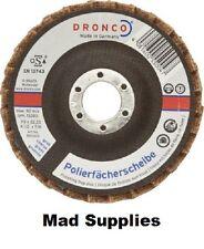 3X DRONCO 115 mm meuleuse d'angle polissage flap disc grossiers, med & fine