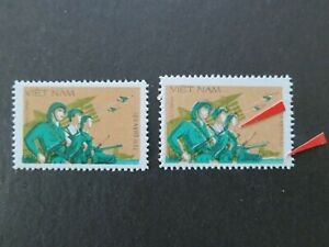Vietnam 1983 - Military Stamp / Regular and ERROR of Color Shifted – VF, MNH
