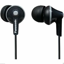 Panasonic RP-HJE125-​K Stereo In Ear Canal Bud Ergofit Headphones RPHJE125 Black