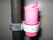 Oboe Bassoon 1.5 oz. Neon Pink Reed Soaking Cup with flip top & Stand Clip
