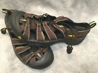 💥💪💥KEEN Mens Newport H2 Brown Yellow Waterproof Trail Sports Sandals Size 8.5