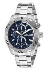 New Men's Invicta 17748 Specialty Chronograph Blue Dial Stainless Steel Watch