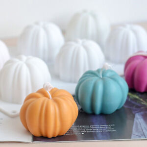 3D Mini Pumpkin Shape Candle Silicone Mold For Resin Soap Polymer-Handcraft Mold