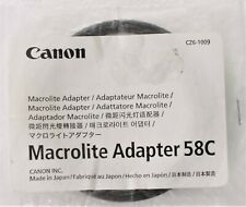 Canon anello adattatore per flash macrolite MT-24EX/MR-14EX nuovo da 58 mm