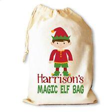 Christmas Santa Sack Gift Bag | Magic Elf | Personalised