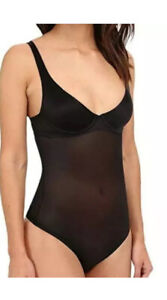 WOLFORD Black Sheer Touch Forming String Body EU 40 E Cup UK 10/12