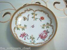 "KPM scepter marik German vanity dish, flowers and gold 5"" diam [Germanbx]"