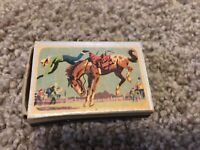 Vintage Ohio Blue Tip Rodeo Bronco Cowboy Empty Matchbox Advertisement