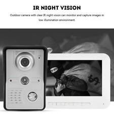 "VIDEOCITOFONO MONITOR 7"" TFT LCD IR TELECAMERA VISONE NOTTURNA KIT EU PLUG"