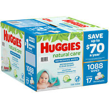 Huggies Natural Care Refreshing Clean Baby Wipes Disposable Soft Pack 1,008 ct.