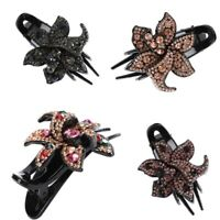 Accessories Pins Clips Comb Hairpin Crystal Grips Women's Flower Slide Hair