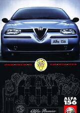 1998 Alfa Romeo 156 German Car Sales Brochure Catalog
