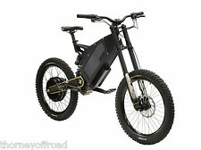 Stealth B52 Electric Mountain Bike 5.2KW 50Mph Black