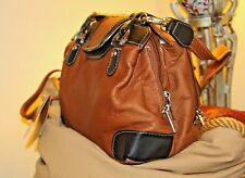 GRAFFE0 OLD WORD ARTISANSHIP SOFT LEATHER CROSS BODY OR SATCHEL PURSE