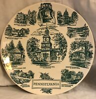 Vintage Lith O Sketch Pennsylvania Plate, Kettlesprings Kilns