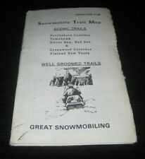 Vintage Snowmobile trail map Minnesota 1984 arctic cat ski doo polaris yamaha